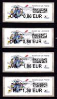 Atm-Lisa / Nouveau Tarif 01/01/19 Lot CC 0.86, DD 0.88, AA 1.05, IP 1.30 € Saint-Désiré, Musée De La Poste - 2010-... Illustrated Franking Labels