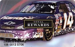 Harrah's Casino:   Harrah's Race Car Slot Card - Casino Cards
