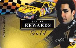 Harrah's Casino Race Car & Driver BLANK Gold Slot Card - Casino Cards