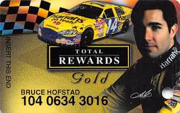Harrah's Casino Race Car & Driver Gold Slot Card - Casino Cards