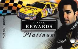Harrah's Casino Race Car & Driver BLANK Platinum Slot Card - Casino Cards