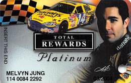 Harrah's Casino Race Car & Driver Platinum Slot Card - Casino Cards