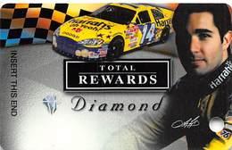 Harrah's Casino Race Car & Driver BLANK Diamond Slot Card - Casino Cards
