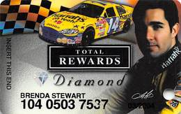 Harrah's Casino Race Car & Driver Diamond Slot Card - Casino Cards