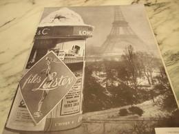 ANCIENNE PUBLICITE GAINES FILES LISTEX 1951 - Habits & Linge D'époque