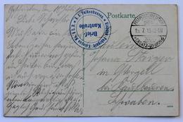 Feldpostexpedition Der XIX Ersatz Division 19.7.1915 + Cachet Brief Kontrolle / A.A. Falkenhausen / Etappen-Fuhrpark- - Occupazione 1914 – 18
