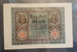 EBN5 - Germany 1920 Banknote 100 Mark Pick 69b #J.10704058 - [ 3] 1918-1933 : Weimar Republic