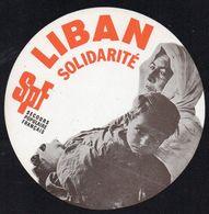 SECOURS POPULAIRE FRANCAIS  LIBAN SOLIDARITE * AUTOCOLLANT A2210 * - Aufkleber