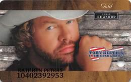Harrah's Casino Toby Keith - Gold Level Slot Card - Casino Cards