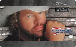 Harrah's Casino Toby Keith - BLANK Platinum Level Slot Card - Casino Cards