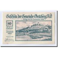 Billet, Autriche, Obritzberg, 80 Heller, Valeur Faciale 2, 1920, SPL, Mehl:701a - Autriche