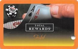 Harrah's Casino  WSOP Gold 2005 Slot Card BLANK - Casino Cards