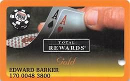 Harrah's Casino  WSOP Gold 2005 Slot Card - Casino Cards