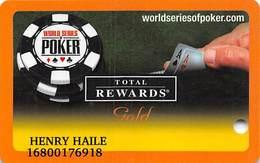 Harrah's Casino  WSOP Gold 2006 Slot Card - Casino Cards