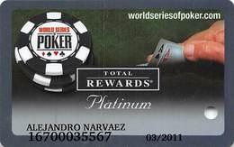 Harrah's Casino  WSOP Platinum 2006 Slot Card - Casino Cards