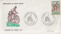 Enveloppe  FDC   1er   Jour     HAUTE  VOLTA     Journée  Du  Timbre    OUAGADOUGOU    1967 - Haute-Volta (1958-1984)