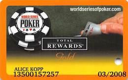 Harrah's Casino  WSOP Gold 2006 Slot Card - 12 Casino Logos - Casino Cards