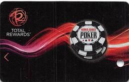 Harrah's Casino BLANK WSOP 2012 Slot Card - 3 Lines Text Bottom Reverse, 3rd Line Shorter Than 2nd - Casino Cards