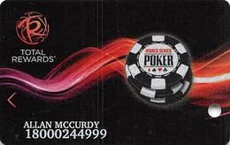 Harrah's Casino WSOP 2012 Slot Card - 3 Lines Text Bottom Reverse, 3rd Line Longest - Casino Cards
