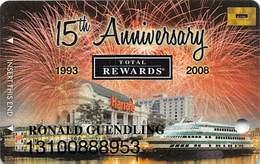 Harrah's Casino 15th Anniversary Joilet IL Gold Level Slot Card - Casino Cards