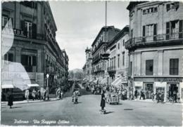 PALERMO  Via Ruggero Settimo  Vigile  Motocicletta  Auto - Palermo