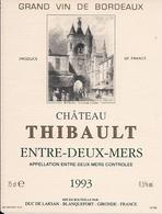 ENTRE-DEUX-MERES CHATEAU  THIBAULT 1993 (3) - Bordeaux