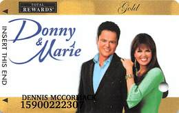 Harrah's Casino Special Issue Donny & Marie Gold Slot Card - Casino Cards