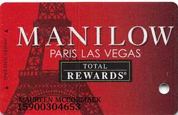 Harrah's Casino Manilow Paris Las Vegas Slot Card - Casino Cards