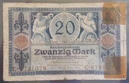 EBN7 - Germany 1915 Banknote 20 Mark Pick 63 #C.8791078 - [ 2] 1871-1918 : German Empire