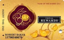 Harrah's Casino Year Of The Rabbit 2011 Slot Card - Casino Cards