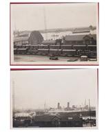 2 Kleine Oude Foto's Gebouw Technische Dienst Loodswezen 1927 Haven Antwerpen FOTO OLD PHOTO - Documents Historiques