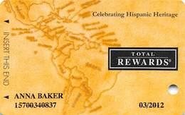 Harrah's Casino Celebrating Hispanic Heritage 2011 Slot Card - Casino Cards