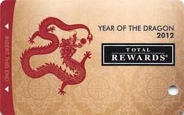 Harrah's Casino Year Of The Dragon 2012 BLANK Slot Card - Casino Cards