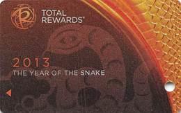 Harrah's Casino Year Of The Snake 2013 BLANK Slot Card - Casino Cards