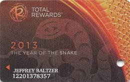 Harrah's Casino Year Of The Snake 2013 Slot Card - Casino Cards