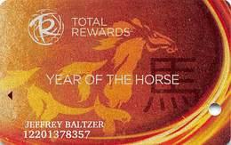 Harrah's Casino Year Of The Horse 2013 Slot Card - Casino Cards