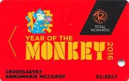 Harrah's Casino Total Rewards Year Of The Monkey 2016 Slot Card - Casino Cards