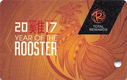Harrah's Casino Year Of The Rooster 2017 Slot Card BLANK - Casino Cards