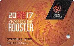 Harrah's Casino Year Of The Rooster 2017 Slot Card - Casino Cards