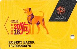 Harrah's Casinos USA - Year Of The Dog 2018 Slot Card - Casino Cards