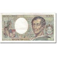 France, 200 Francs, 200 F 1981-1994 ''Montesquieu'', 1990, TTB, Fayette:70.10a - 1962-1997 ''Francs''
