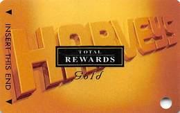 Harvey's Casino - Lake Tahoe, NV - TR Gold @2001 Slot Card BLANK - Casino Cards