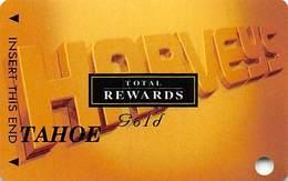 Harvey's Casino - Lake Tahoe, NV - TR Gold @2001 Slot Card BLANK Tahoe - Casino Cards