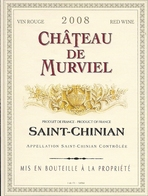 SAINT-CHINIAN CHATEAU DE MURVIEL 2008 (3) - Languedoc-Roussillon