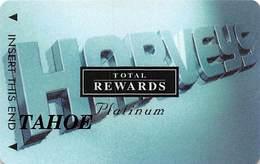 Harvey's Casino - Lake Tahoe, NV - TR Platinum @2001 Slot Card BLANK Tahoe - Casino Cards