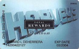 Harvey's Casino - Lake Tahoe, NV - TR Platinum @2001 Slot Card - Casino Cards