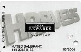 Harvey's Casino - Lake Tahoe, NV - TR Diamond @2001 Slot Card - Casino Cards