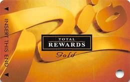 Rio Casino Las Vegas NV - TR Gold Slot Card With No Date BLANK - Casino Cards