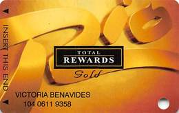 Rio Casino Las Vegas NV - TR Gold Slot Card With No Date - Casino Cards