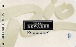 Rio Casino Las Vegas NV - TR Diamond Slot Card With No Date BLANK - Casino Cards